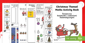 Christmas Themed Maths Activity Book English/Polish - Christmas Themed Maths Activity Book - christmas, maths, activity, chritmas, chriatmas, christms, ch