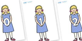 Numbers 0-50 on Goldilocks - 0-50, foundation stage numeracy, Number recognition, Number flashcards, counting, number frieze, Display numbers, number posters