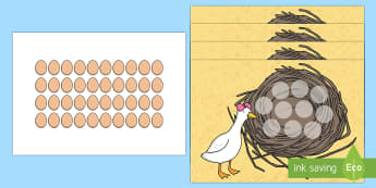 Lost Duck Egg Counting  Game - Lost Eggs Counting Game Resource Pack - EYFS, Early Years, Easter, farm, counting game,countng,couti