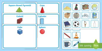 Workstation Pack: 3D Activity Pack - Workstation, TEACCH, autism, shape and measure, 3D shapes, p4 - p8, ASD