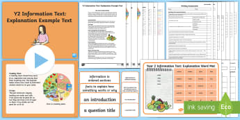 Y2 Information Texts: Explanation Example Text - Example Texts Y2, Explanation, WAGOLL, moderation, exemplification, SATs, moderating, non-fiction, i