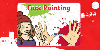 Editable Face Painting A4 Poster - editable, edit, face painting, face, paint, a4, display poster, display, poster