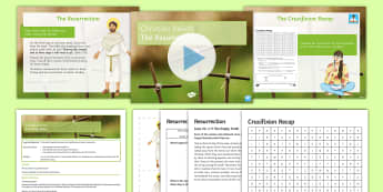The Resurrection Lesson Pack - Jesus, Resurrection, Easter, GCSE, Christianity, Christian, Holy, Bible, gospel.