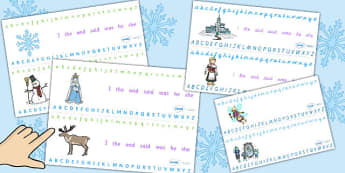 The Snow Queen Alphabet Strips - snow queen, alphabet, strips