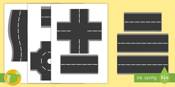Imágenes de exposición: Piezas de carretera - vía, vías, imprimir, juego de rol, ciudad, juego simbólico,,Spanish