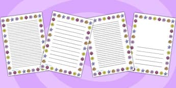 Flower Page Border - flower, writing, flower borders, literacy