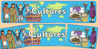 Cultures Display Banner - cultures display banner, cultures, culture, different, display, banner, sign, poster, beliefs, countries, world