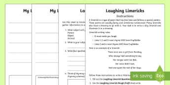Laughing Limerick Poem Writing Resource Pack - Saint Patrick's Day, Irish, Ireland, limerick, laughing, silly, funny, poem, poetry, creative, crea