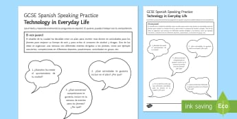 Free Time Speaking Practice Activity Sheet - Spanish, Speaking, Practice, free time, activity, sheet, gcse spanish worksheet