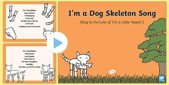 I'm a Dog Skeleton Song PowerPoint