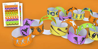 Halloween Themed Paper Chain - chains, paper, Halloween themed