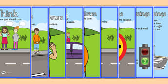 Road Crossing Safety Posters - safety, safe crossing, road crossing, display, banner, poster, sign, good behaviour