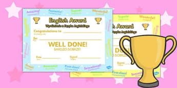 English Award Certificate Polish Translation - polish, award
