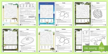 Australian Reptiles and Amphibians Activity Pack - Australian Animals,Australia, information on animals, crocodiles, frogs, reptiles, snakes, tortoises