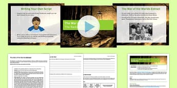 The War of the Worlds Radio Script Lesson Pack 2 - war of the worlds, radio, script, lesson pack