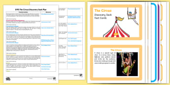 EYFS The Circus Discovery Sack - EYFS, circus, circus activities