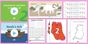 Counting in 2s - Maths Resources, maths, numeracy, ks1, counting, count, 2s, twos,