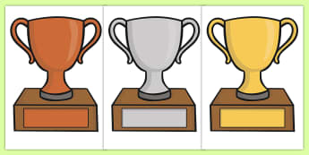 Editable Classroom Award Trophies - Reward, classroom, trophy, medal, rewards, school reward, medal, good behaviour, award, good listener, good writing, good reading
