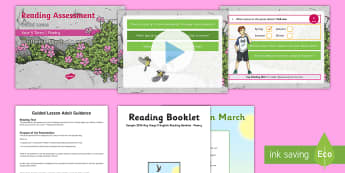 Year 5 Term 1 Poetry Reading Assessment Guided Lesson Teaching Pack - comprehensions, SATs practise, read,  guidance, assess,