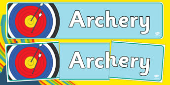 The Olympics Archery Role Play Display Banner - Olympics, Olympic Games, sports, Olympic, London, 2012, display, banner, sign, poster, Olympic torch, flag, countries, medal, Olympic Rings, mascots, flame, compete, archery, archer, bowman, bow, arrow,