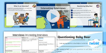 PlanIt Y1 Space: To Support Teaching on Whatever Next! Lesson Pack Interviews (1) - Planit English, Space, Whatever Next, whatever next? bears, Jill Murphy, Astronauts, Year 1, year on