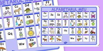 Alfabetar A-Z - Planșă
