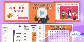 PlanIt Y3 Term 1B W6: Statutory Spelling Challenge Words Spelling Pack - Spelling Packs, weekly, SPaG, list, spelling, y3, Year 3, PlanIt, GPS, statutory, common exception w