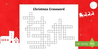Christmas Crossword-Australia