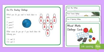 Mixed Maths Challenge Cards - New Zealand Maths, problem solving