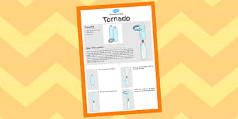 Tornado Experiment Instructions Sheet - crafts, instruct, tornados