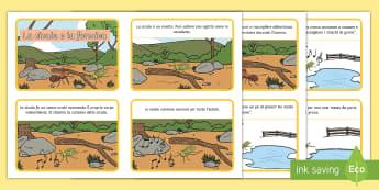 La cicala e la  formica Flashcards - favole, tradizionali, esopo, la, cicala, e, la formica, favola, fiaba, italiano, italian, materiale,