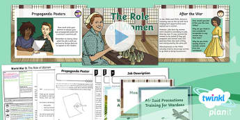 PlanIt History UKS2 World War II Lesson 4: The Role of Women Lesson Pack
