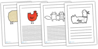 Writing Frames to Support Teaching on What the Ladybird Heard - what the ladybird heard, writing frames, writing aids, writing guide, line guide, story frames, guides
