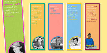 Reading Quote Bookmarks for KS3 - reading quote, posters, display, ks3