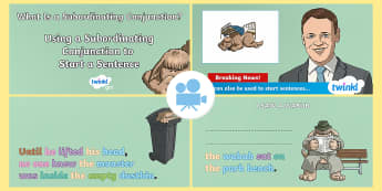 Spag-tastic!: Using a Subordinating Conjunction to Start a Sentence (What Is a Subordinating Conjunction?) Video 3 - SPaG-Tastic Videos KS2, ks2, Year 3, year 4,, year 5, year 6, SPaG, GPS, spagtastic, spag-tastic, gr
