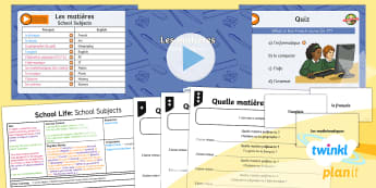 PlanIt - French Year 5 - School Life Lesson 3: School Subjects Lesson Pack - french, languages, grammar, school, subjects, lessons, questions, school life, planit