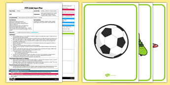 EYFS Football Whats in the Box Game Adult Input Plan and Resource Pack - pack