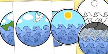 Noah's Ark Dramatic Play Cut Out Windows - Noah's ark, dramatic play, RE