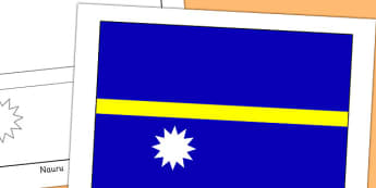 Nauru Flag Display Poster - countries, country, geography