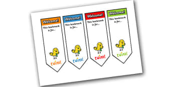 Editable Welcome Bookmarks - Welcome, bookmark, bookmark template,  gift,  present, book, reward, achievement