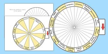 Classroom Jobs Spin Wheel - class management, jobs, class jobs