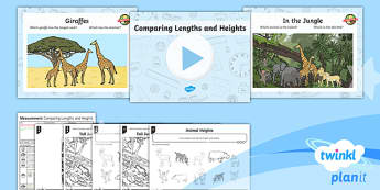 PlanIt Y1 Measurement Lesson Pack - Measurement, length, height, compare, describe, Y1, Year 1, KS1, maths, planning