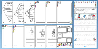 KS1 Superhero Writing  Resource Pack