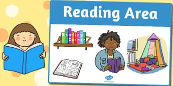 Reading Area Sign - area, sign, area sign, reading, reading area
