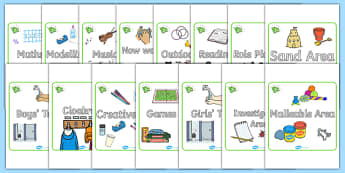 Emerald Themed Editable Square Classroom Area Signs (Plain) - Themed Classroom Area Signs, KS1, Banner, Foundation Stage Area Signs, Classroom labels, Area labels, Area Signs, Classroom Areas, Poster, Display, Areas