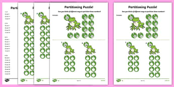 Partitioning Puzzle Activity Sheet, worksheet