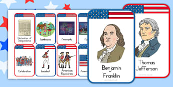 Independence Day Flashcards - independence day, flashcards, cards