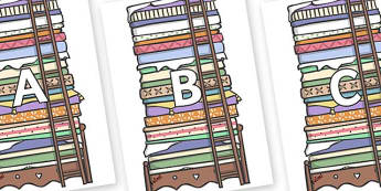 A-Z Alphabet on Beds - A-Z, A4, display, Alphabet frieze, Display letters, Letter posters, A-Z letters, Alphabet flashcards