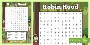 Robin Hood Wordsearch - robin hood, wordsearch, robin, hood