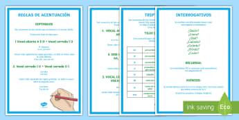 Ortografía: Acentuación de diptongos, triptongos y hiatos - Ortografía, acentuación, normas de acentuación,Spanish